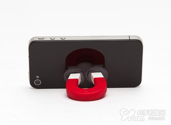 日韩风u形磁铁 iphone4s创意支架