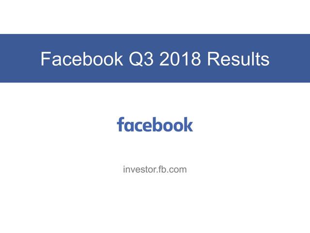 Facebook Q3财报