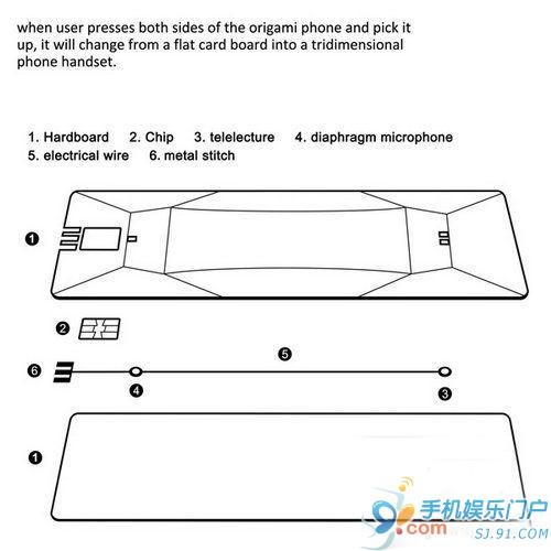 打造立体折纸电话